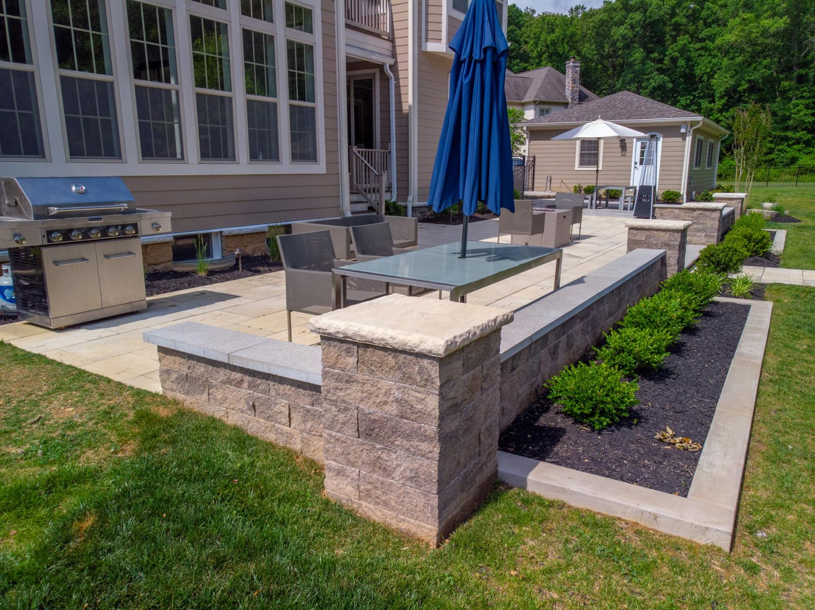 retaining walls mailboxes and piers