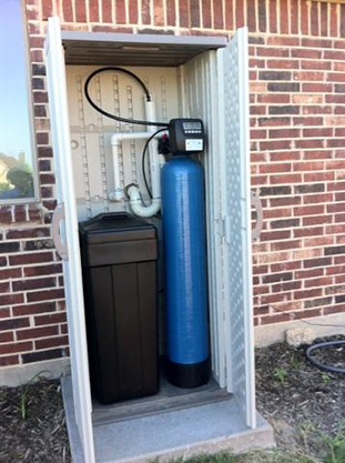 Equipment - Absolutewateroftexas.com on Outdoor Water Softener Enclosure  id=89981