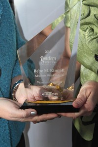 LEADS Women in Business Champion Award presented to Bebe Kinnett