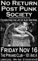 No Return Post Punk (Goth) Society Pyramid NYC Alex