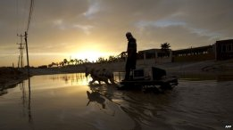 Flooded Gaza in December 2013