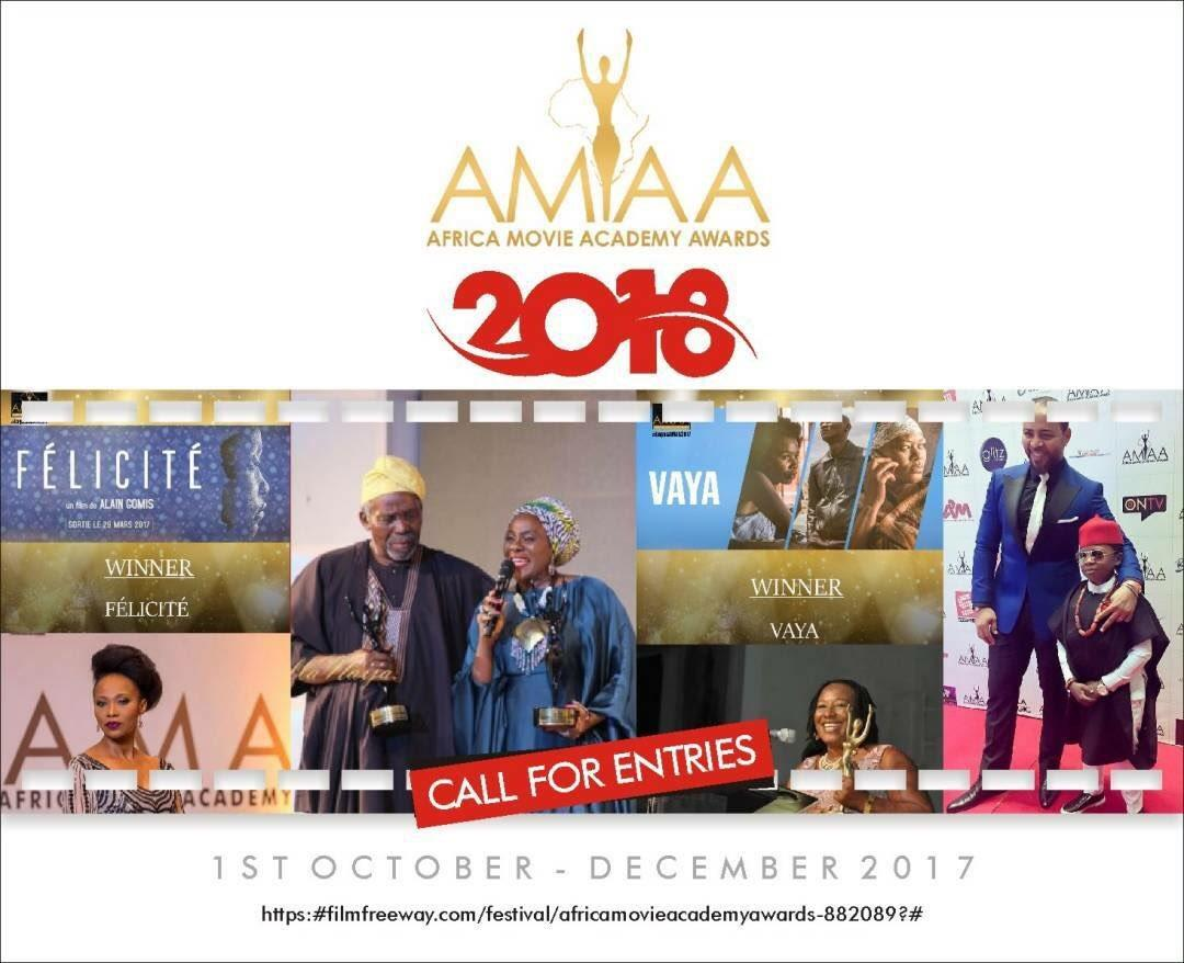 Africa Movie Academy Awards 2018; Call For Entries