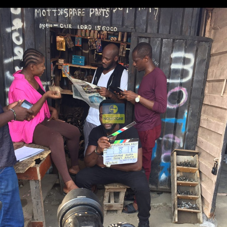 2face Spotted On Nollywood  Set With Other Actors