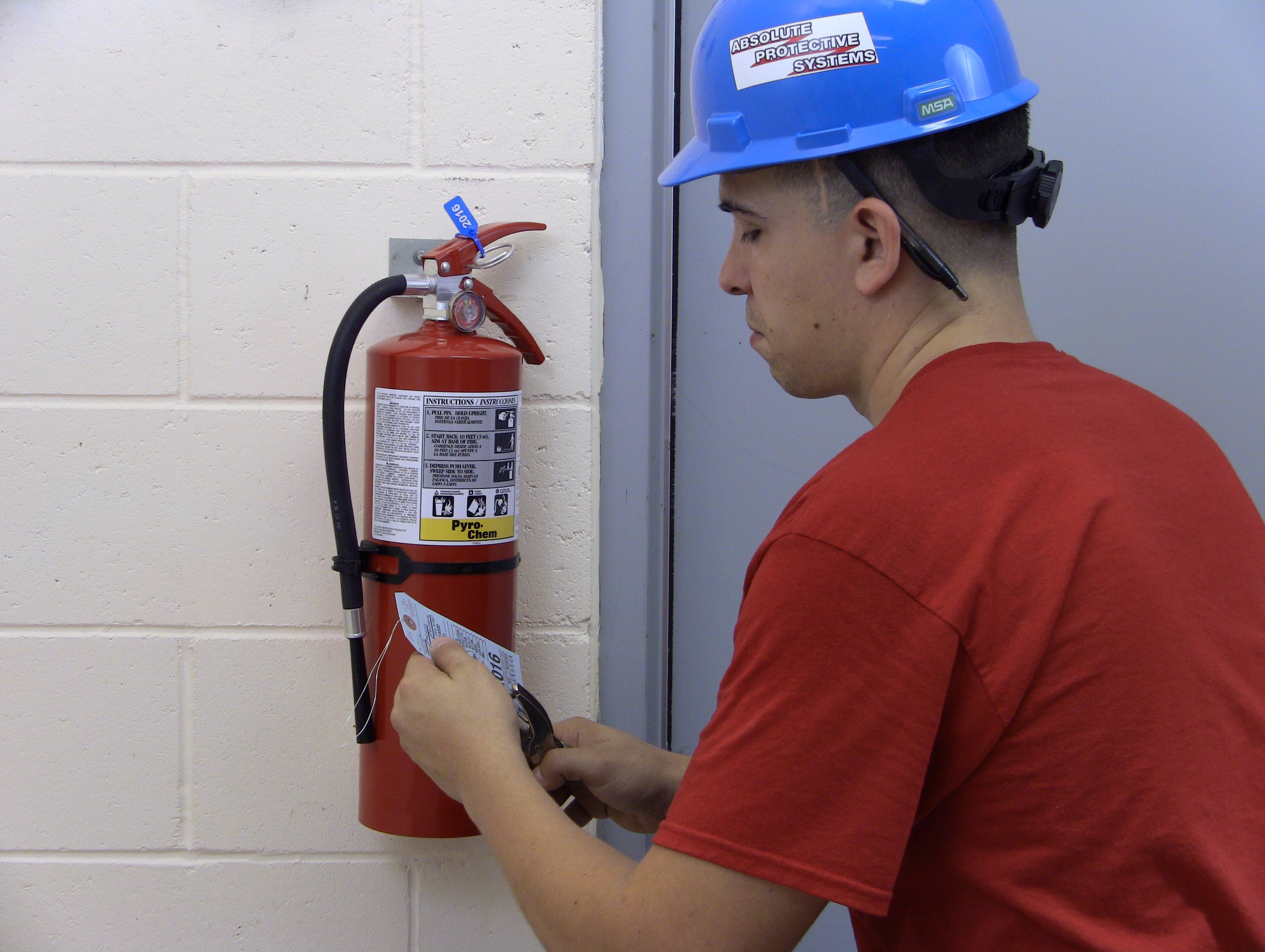 fire extinguishers and suppression systems