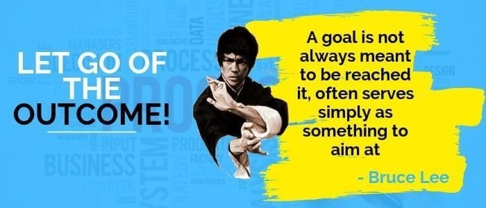 This is the picture of bruce lee talking about setting weight loss goal
