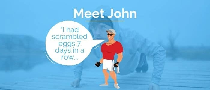 This is picture of John who has not set smart weight loss goal