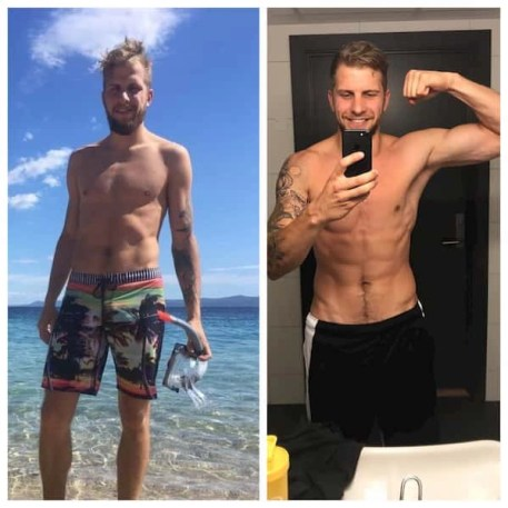 This is a picture of the first client who applied the first principle of how to make a workout plan