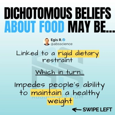 this is the picture showing the third reason for binge eating - dichotomous thinking