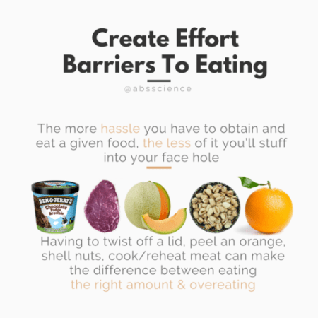 This is the third strategy to stop mindless eating - Make Overeating a Hassle, Not a Habit