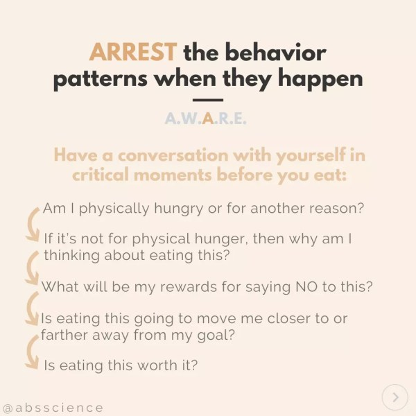 this picture shows the third step to stop emotional eating - ARREST The Negative Patterns Before They Occur
