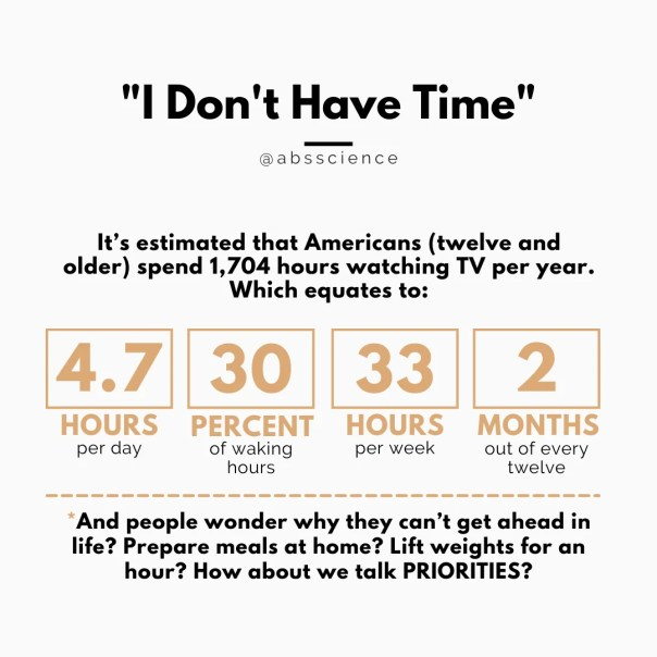 I don't have time excuse