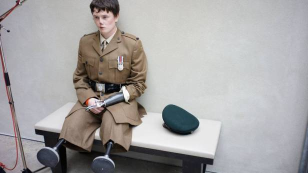This picture, I have no word for this picture. He was only 18 when he was injured in Afghanistan. Photo by Bryan Adams.
