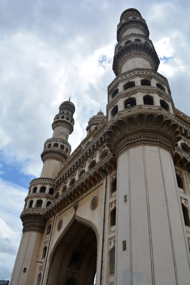 Charminar - Photo courtesy my Friend Sreenath, he was sport enough to take pictures with me spoiling  the view too.