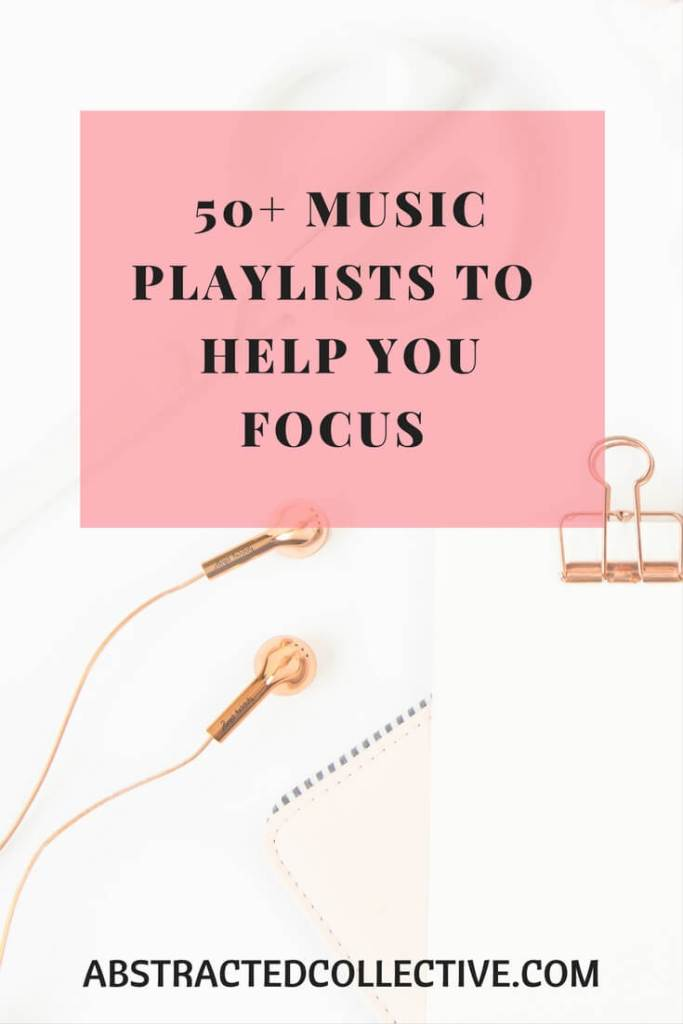 Do you love to listen to music whilst you work but are constantly distracted by it? Here are some playlists to allow you to enjoy music whilst you focus at work