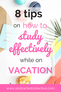Going on a vacation whilst juggling exams, assignments and readings? Here are 8 Study tips and tricks for adults, college students and high school students who are balancing homework with sightseeing. I write about my 8 top organization and motivation tips, as I reflect on my recent solo trip, lugging around my laptop whilst keeping up with reading assignments and preparing for exams.