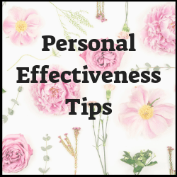 Personal effectiveness tips covering good habits, time management, productivity, goal setting, career tips and so much more.