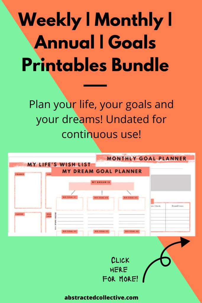 Life Planner & Goal-setting Printable Bundles
