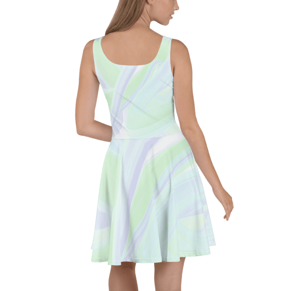 all over print skater dress white 5ff6f3bae9fcb