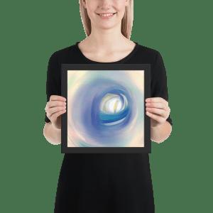 enhanced matte paper framed poster in black 10x10 person 602cd8e86b60d