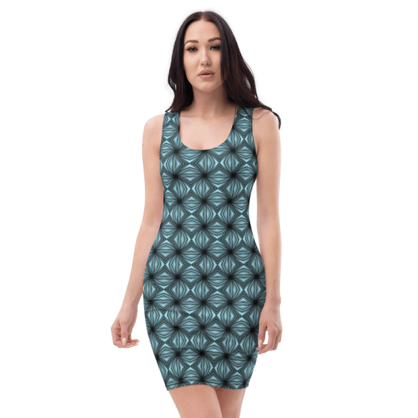 all over print dress white front 61038c704035c