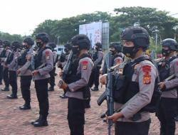 Kapolres Terjunkan Personel Brimob dan Dalmas Polda Sulut Guna Pengamanan Pilkades Serentak Bolmut