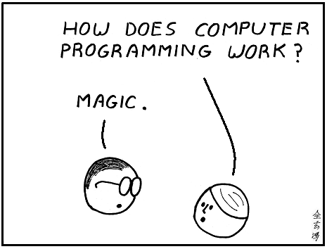 Image result for how does computer programming work magic