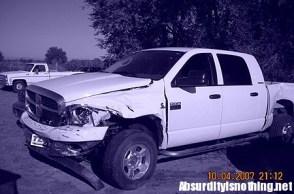 La macchina di Joleen Baughman dopo l'incidente che l'ha fatta diventare dipendente dal sesso