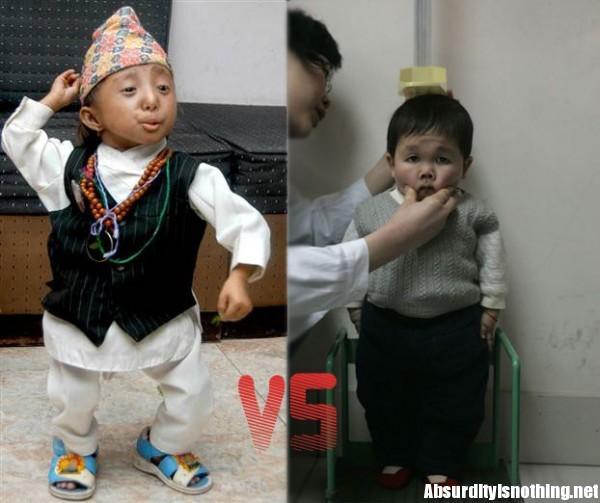Thapa Magar (a Sinistra) e Wu Kang (a destra) si contendono il titolo di uomo più piccolo del mondo