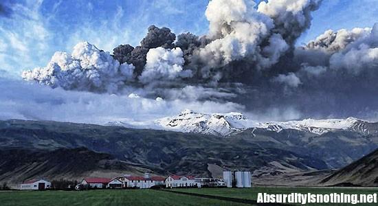 Eyjafjallajoekull - Nube del vulcano islandese