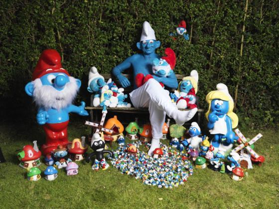 Stephen Parkes - La più grande collezione di Puffi