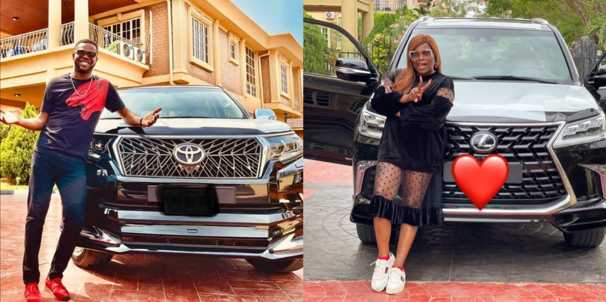 Funke Akindele's Husband, JJC Skillz, Also Gets His Own Brand New SUV, Few Days After She Bought Hers (Video)