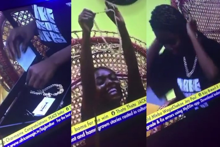 BBNaija 2021: Head Of House Peace, Receives 18 Carat Gold Necklace Gift  From Biggie - ABTC