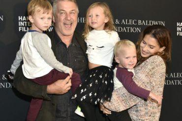 Alec Baldwin and family