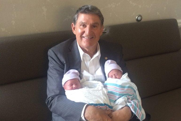 Joe Manchin and grandchildren