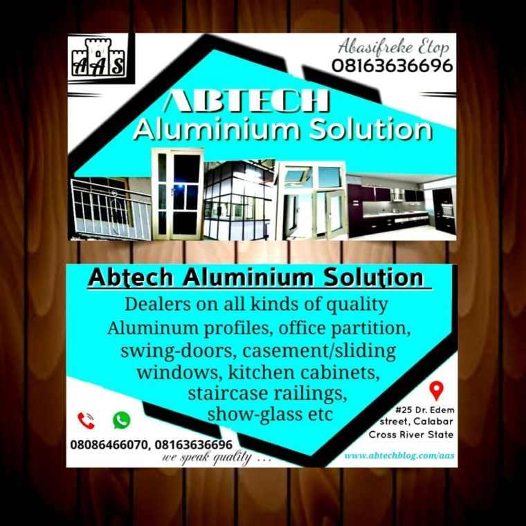 Abtech Aluminum solution Complimentary Card