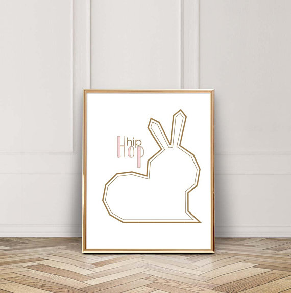 easter bunny print hip hop