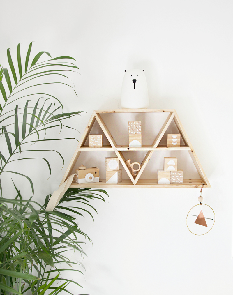 mountain shelf wooden toy blocks