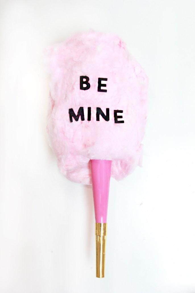 cotton candy valentine be mine