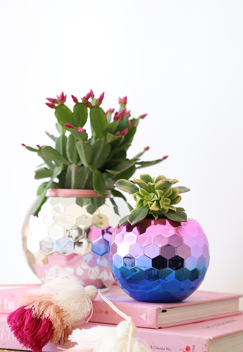 disco ball planter
