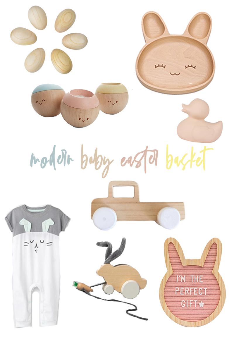 modern baby easter basket gift guide