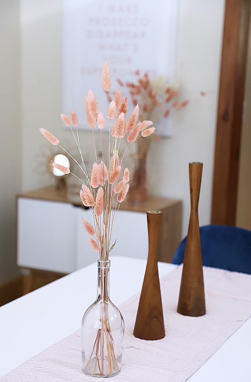 dried flowers with kool aid