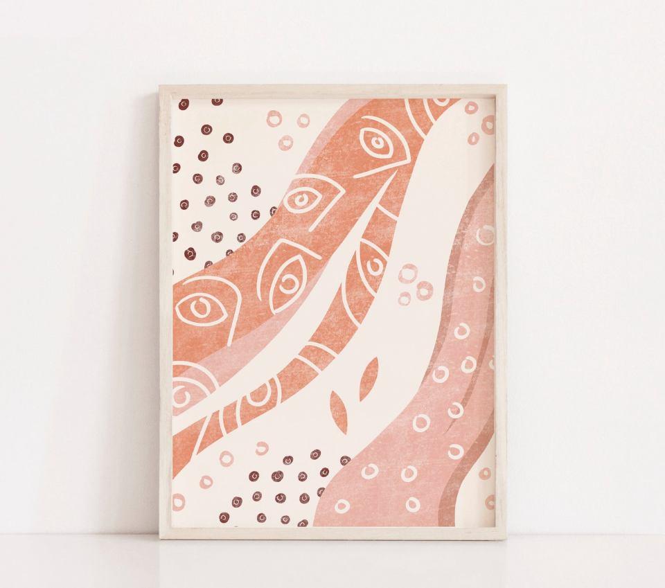 boho abstract midcentury printable