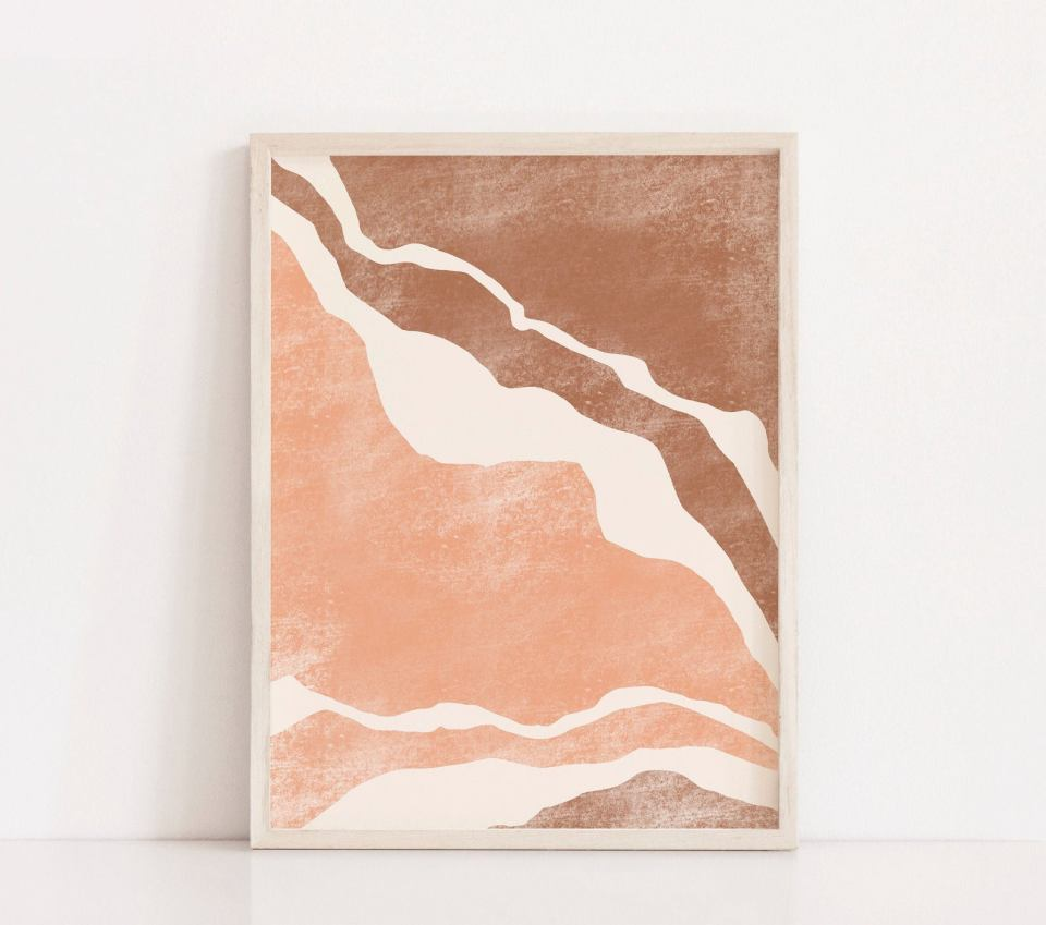 earthy tones art printable