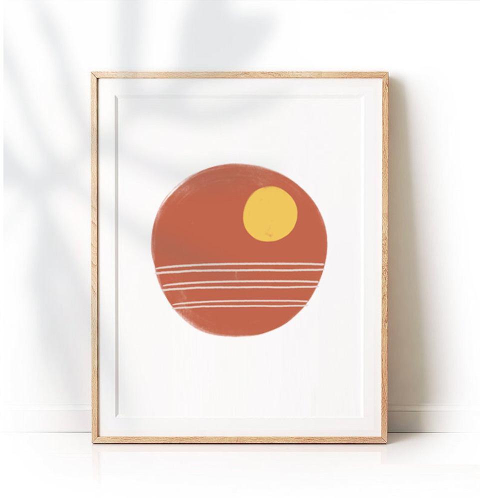 moon art midcentury