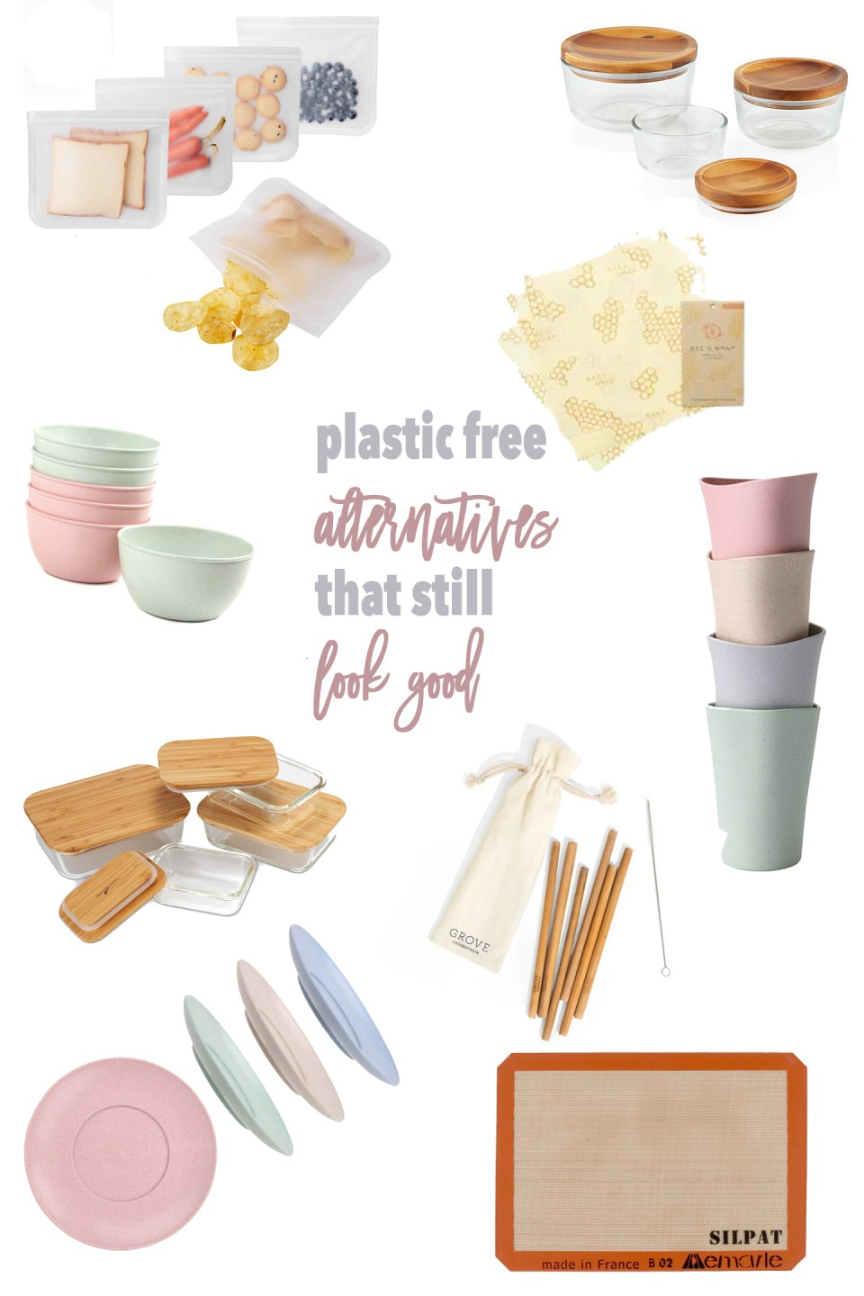 plastic free alternatives for your kitchen