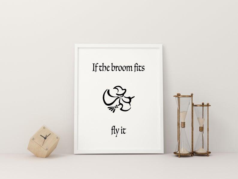 broom print for halloween