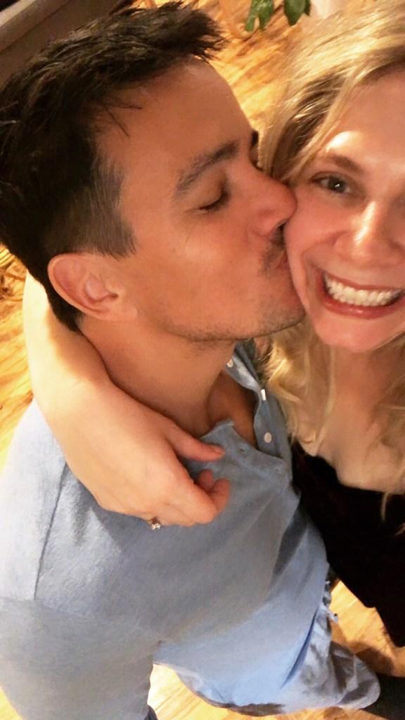 nick and I kiss