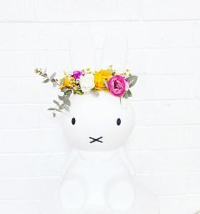 miffy bunny flower crown