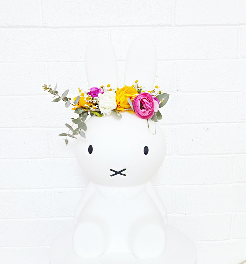 miffy bunny flower crown