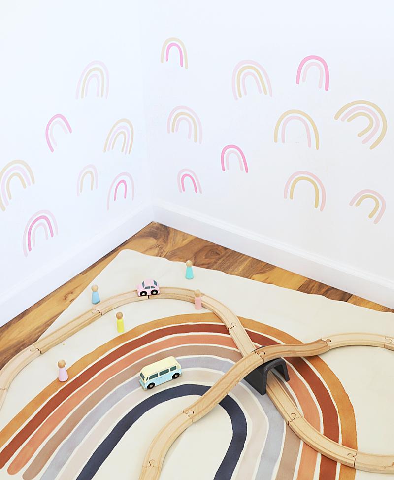 play room rainbow decals